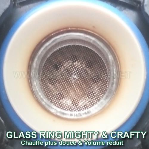 Réducteur de remplissage en verre vaporisateur Mighty et Crafty Plus Glass Ring qui apporte une chauffe plus douce et plus diffuse