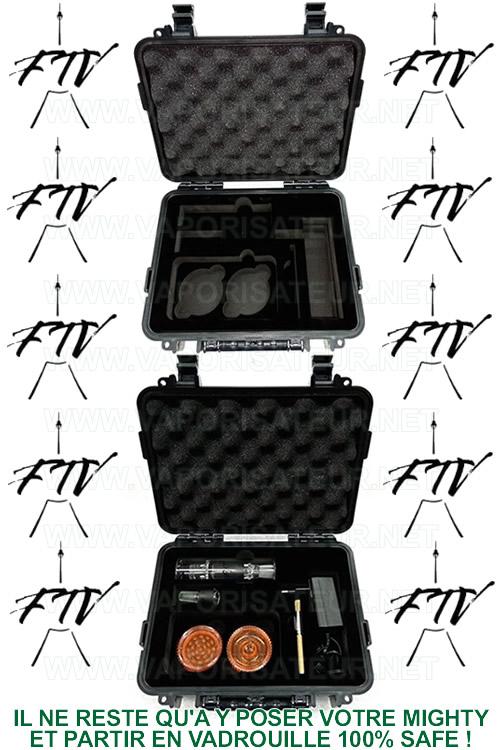 Présentation de la mallette de transport Mighty Case FTV étanche à l'air et à l'eau - Le contenu détaillé