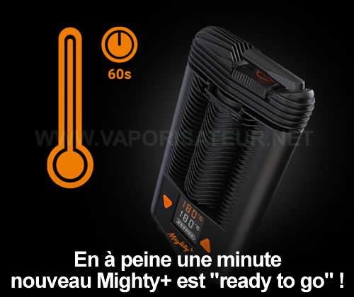 Vaporisateur portable Mighty+ peut atteindre la température de vaporisation en 60 secondes