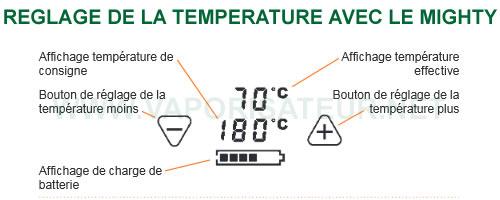 Comment bien régler la température de vaporisation avec le vapo Mighty
