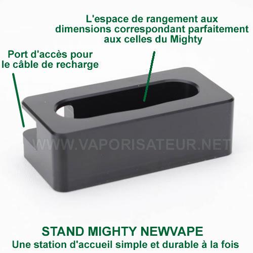 Présentation détaillée du socle de recharge NewVape pour vaporisateur portable Mighty