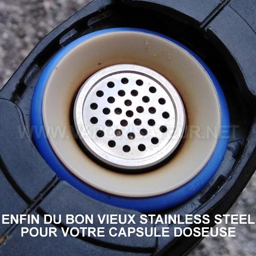 Capsule doseuse en acier inoxydable pour vaporisateurs Mighty, Crafty+, Volcano, Plenty, SteelCaps stainless capsule doseuse