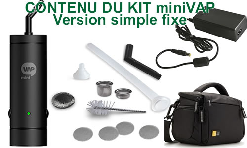 Vaporisateur miniVAP en version single sans batterie