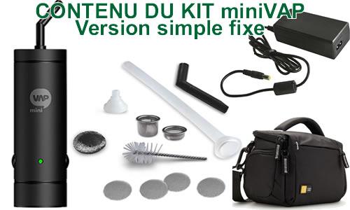 Vaporisateur miniVAP en version single sans batterie