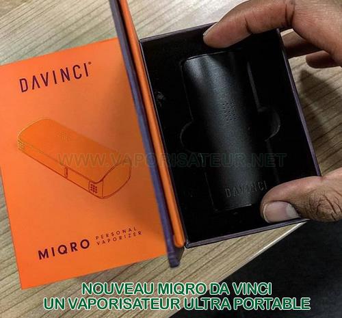 Vaporisateur ultra portable Da Vinci MIQRO - l'ancien IQ à la taille réduite