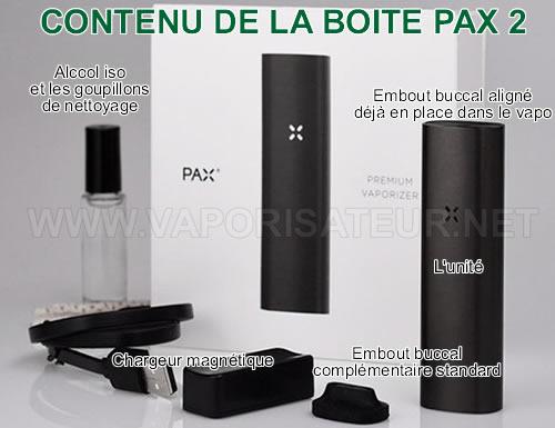Contenu complet de la boite d'origine Pax 2