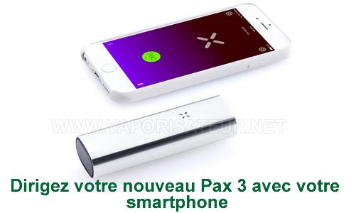 Application smartphone Android et iPhone pour vaporisateur Pax 2