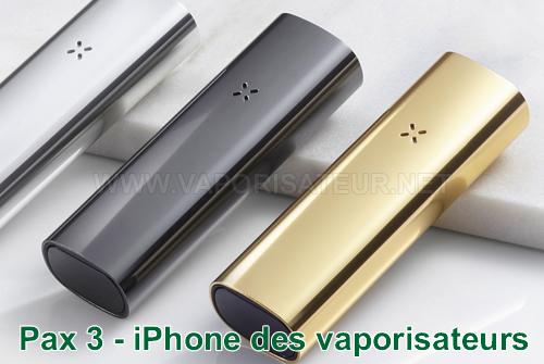 La comparaison du vaporisateur PAX 3 avec le style iPhone