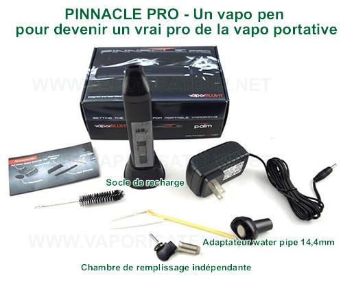 Pinnacle Pro vaporisateur en forme de e cigarette