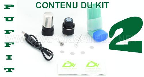 Le contenu en détail du kit complet vaporisateur Puffit 2