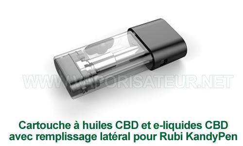 Cartouche-atomiseur pour huiles CBD et e-liquide CBD pour vape pen Rubi KandyPen