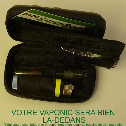 Trousse étui e-cigarette, vaporisateur, petite pipe
