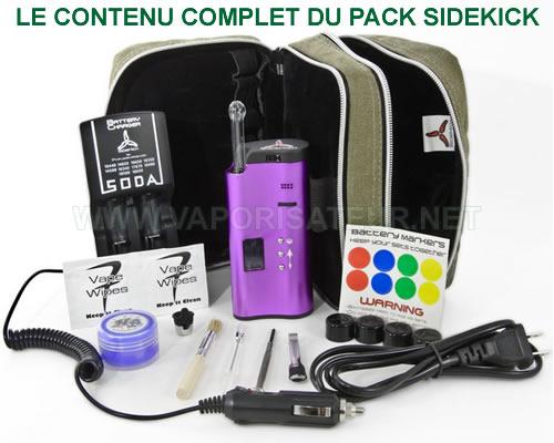 Le contenu complet du vaporisateur SideKick - présentation de tous les éléments composant le pack de départ