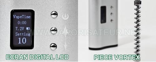 Ecran digital LCD et la pièce de refroidissement VORTEX