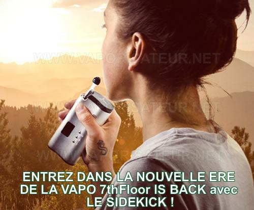 SideKick - vaporisateur portable 7thFloor avec mélangeur intégré disponible en France
