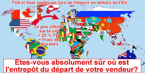 Les frais d'importation d'un vaporizer en dehors de l'Union Européenne