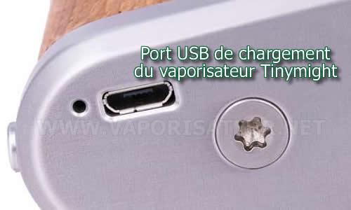 Port USB de chargement du vaporisateur portable Tinymight