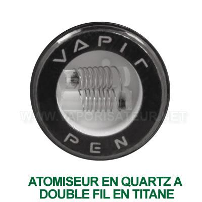 L'atomiseur en quartz avec double tige en Titane pour Vapir Pen