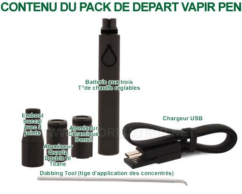 Le contenu détaillé du pack Vapir Pen