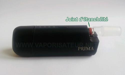Accessoire pour connecter un water pipe sur vaporizer mobile Prima