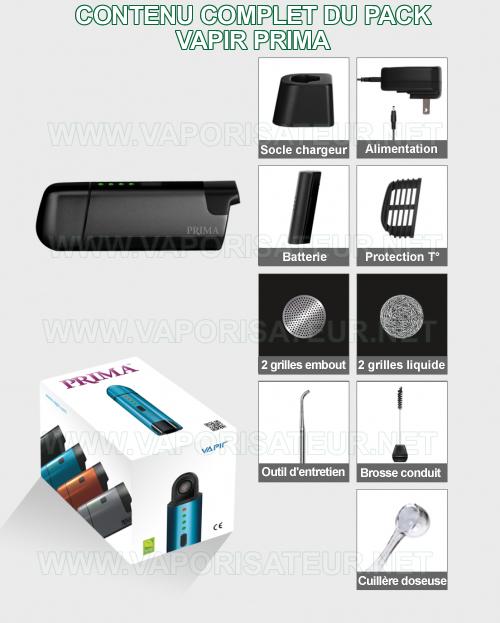 Le contenu détaillé du pack d'origine vaporizer portatif Prima