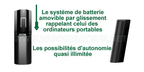 Vaporisateur portable Prima propose une batterie amovible
