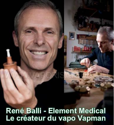 René Balli - le créateur du vaporisateur portable Vapman