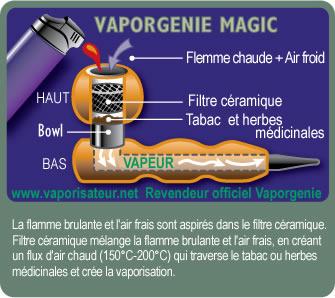 Vaporisateur portable Vaporgenie Clasic - vue détaillée