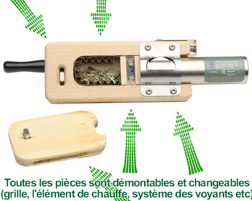 Démontage du vaporisateur Volta Vaporgenie est possible en totalité