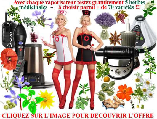 Vaporiser plantes médicinales bio offertes avec chaque vaporisateur