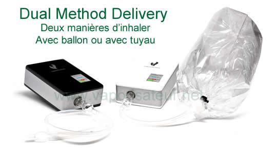 Double système d'inhalation ballon ou tuyau de vaporisateur viVape2