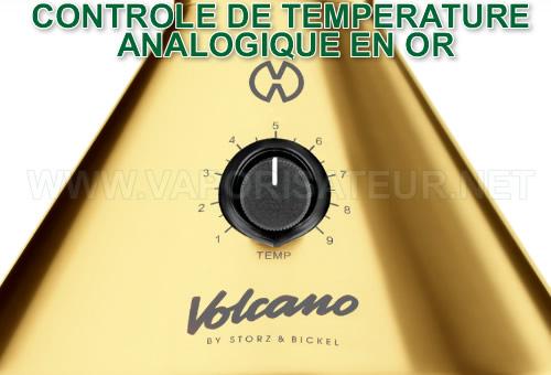 Un vaporisateur Volcano Classic avec le dôme plaqué or 24 carats dans la version 20ème anniversaire Gold Edition contrôle de température de vaporisaation