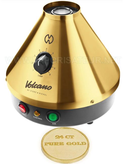 La présentation de l'or pur dont est fabriqué le vaporizer Volcano Classic en édition or - Gold Edition