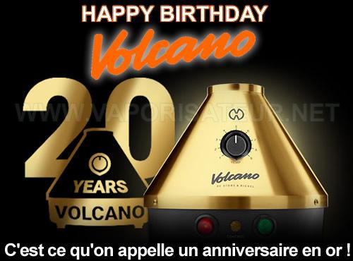 Volcano Classic Gold Edition spécial anniversaire 20 ans du vaporisateur fétiche Storz et Bickel
