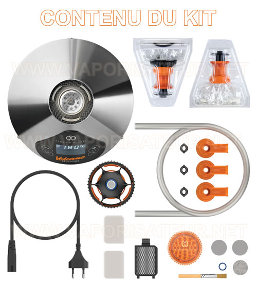 Le contenu complet du pack Volcano Hybrid - le détail de tous les accessoires et éléments fournis
