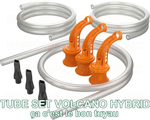 Set Whip complet Volcano Hybrid - Tube Set - présentation de la partie tuyau du pack