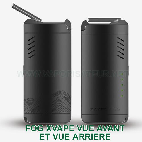 Vue avant et arrière de la nouvelle version du vaporisateur portable Fog XVAPE