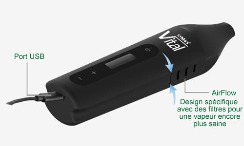 AirFlow ou le tirage d'air amélioré de la dernière version du vapo Vital XMAX expliqué