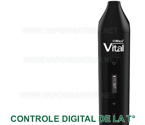 Contrôle de température de vaporisation digitalisé au degré près du vaporisateur portable XMAX Vital